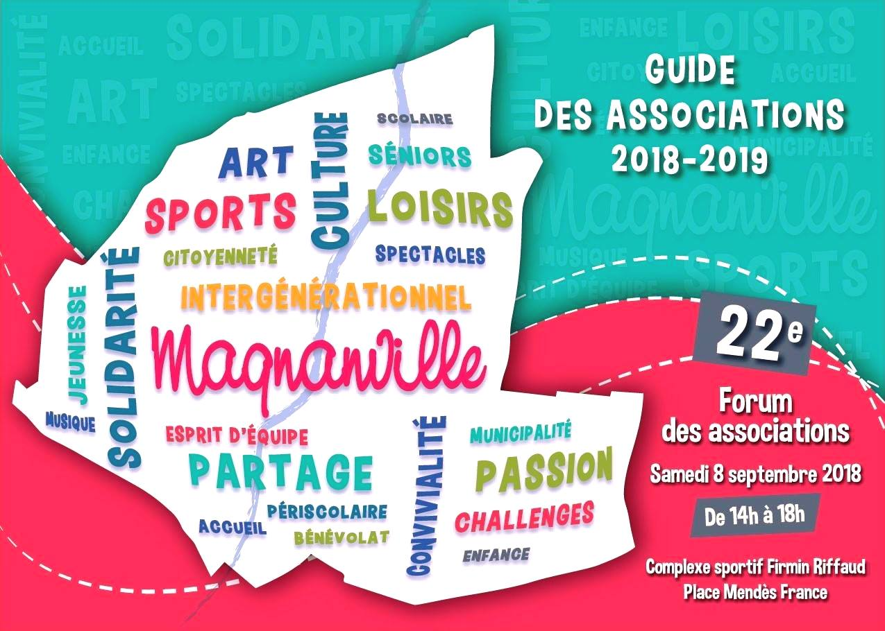 Couverture du guide des associations 2018 de Magnanville